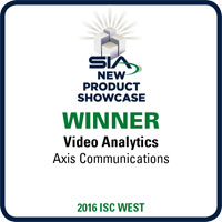 AXIS Perimeter Defender wins best new product in the Video Analytics  category from the Security Industry Association Awards