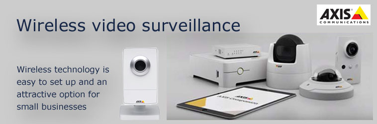 Axis offers a range of cameras with built-in wireless support. Network cameras without built-in wireless technology can still be integrated into a wireless network if a wireless bridge is used.