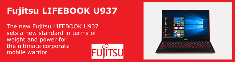 Fujitsu Notebook LIFEBOOK U937 is the lightest laptop on the market. This full featured notebook is setting new standards, weighing less that 1Kg and with a casing made from magnesium, ensuring a strong, professional and unimaginably lightweight portable PC.